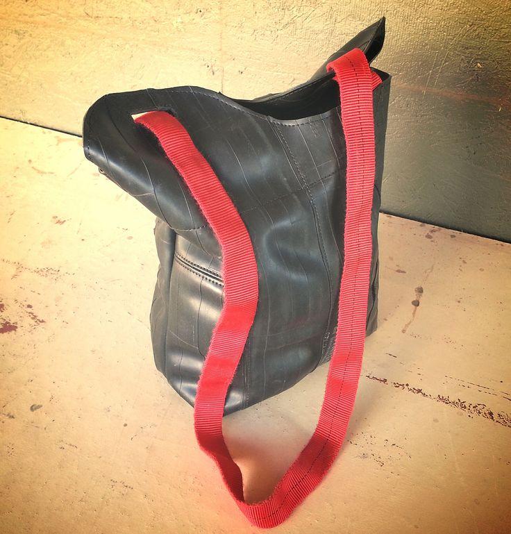 Bike Tube Tote Bag #Rubber, #Upcycled