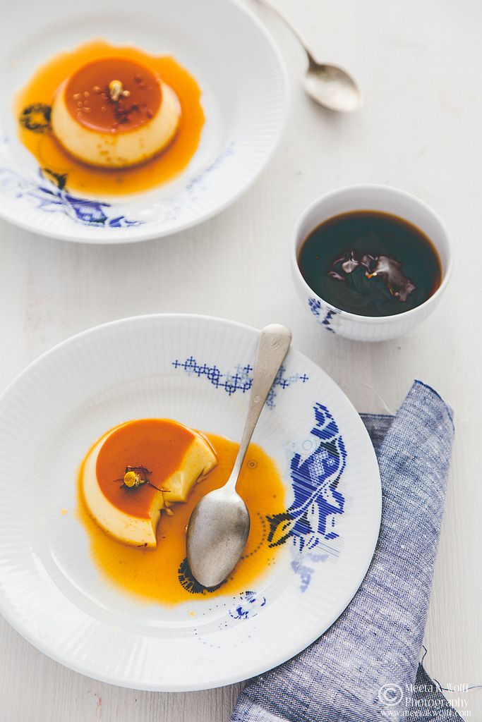 What's For Lunch Honey?: Chamomile and Saffron Crème Caramel