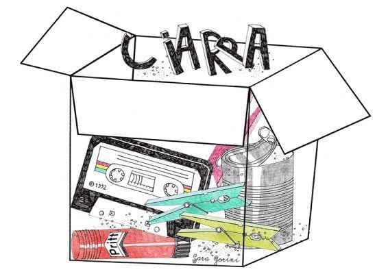 """La parola bella """"CIARPA"""" in un' illustrazione di Sara Gorini"""
