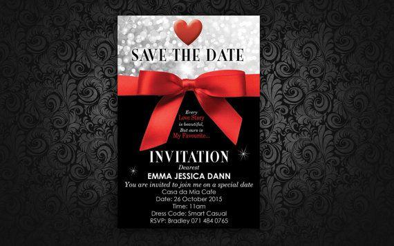 Date Night Invitation by LadyJaneDesign on Etsy