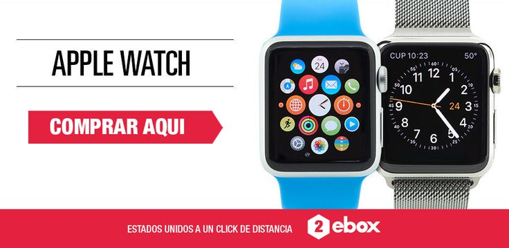 ¿Quieres tener lo último en tecnología? Compra en USA el nuevo Apple Watch y tráelo a Chile en menos de 10 días con http://2ebox.com?utm_content=buffer84d7b&utm_medium=social&utm_source=pinterest.com&utm_campaign=buffer.