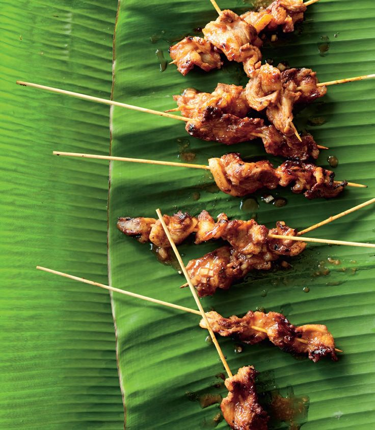 Barbecued pork belly skewers recipe by Peter Kuruvita   Cooked
