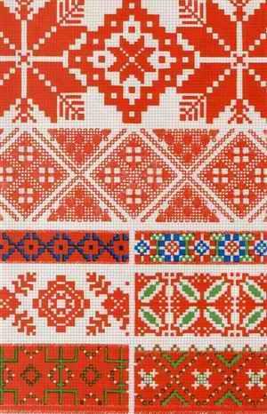 Estonian folk embroidery pattern