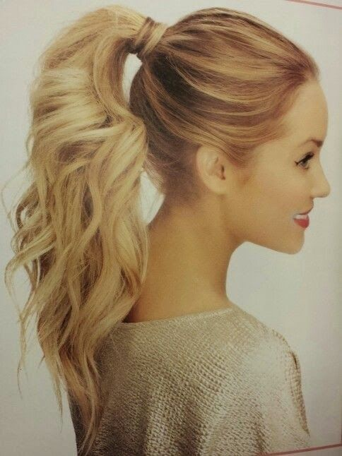 textured ponytail hairstyle - Google Search