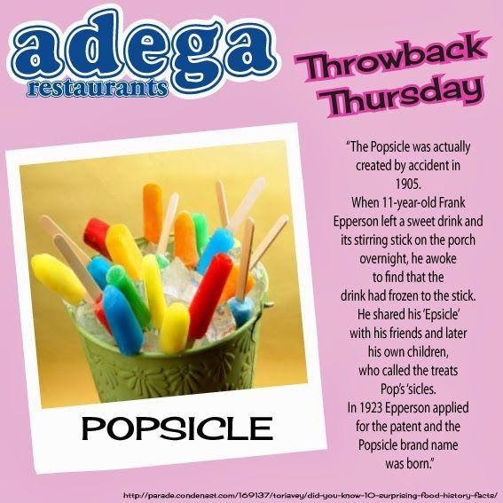 Throwback Thursday - Popsicles!