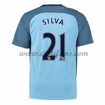 Manchester City Fotbalové Dresy 2016-17 Silva 21 Domáci Dres