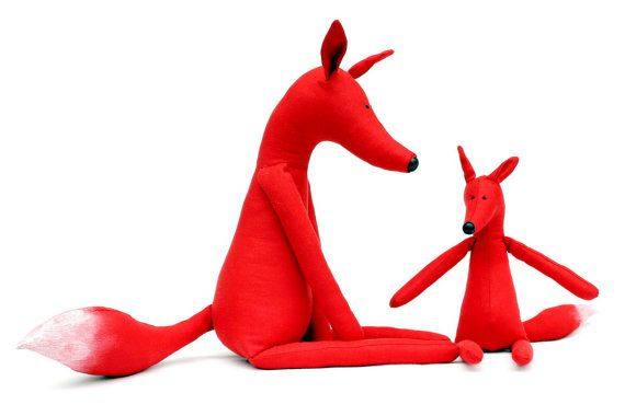 Foxy Family stuffed animal toys for children - $35.00
