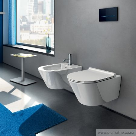 Zero 55 Wall Hung Toilet With Slim Seat - Toilets & Bidets - Bathroom