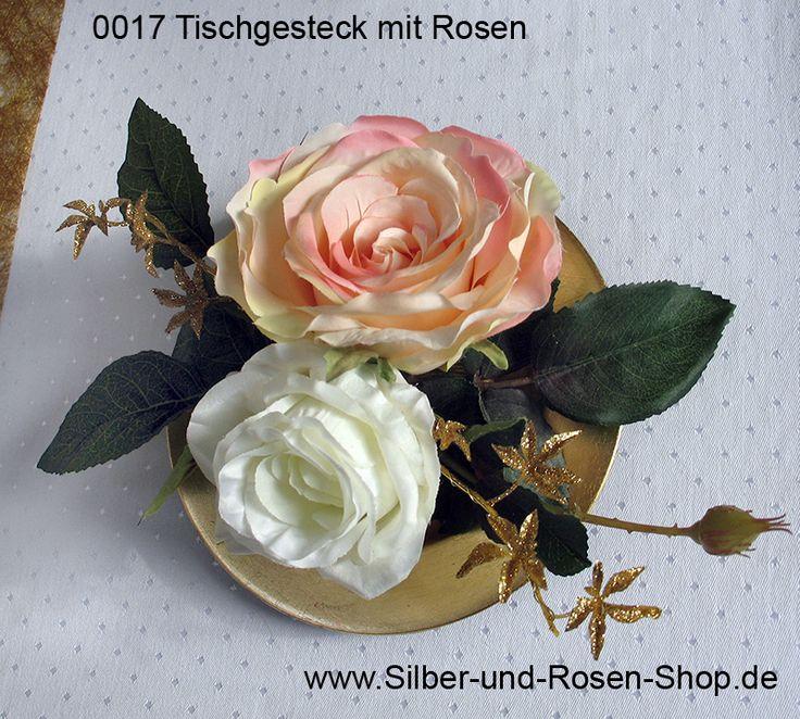 Goldene Hochzeit Tischdekoration mit Rosen kaufen
