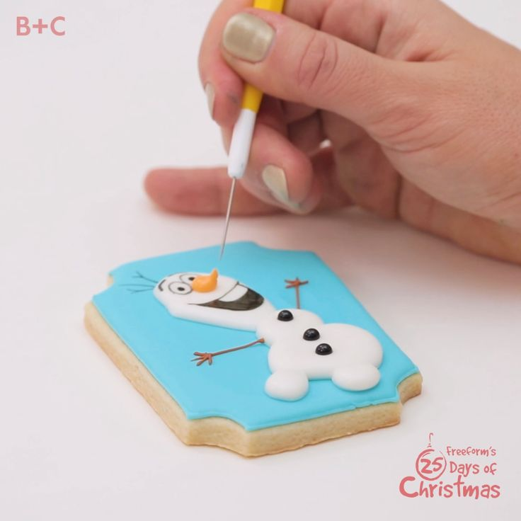 Some people are worth melting for! Here's how to build an Olaf the Snowman cookie, and don't miss Frozen during Freeform's 25 Days of Christmas.
