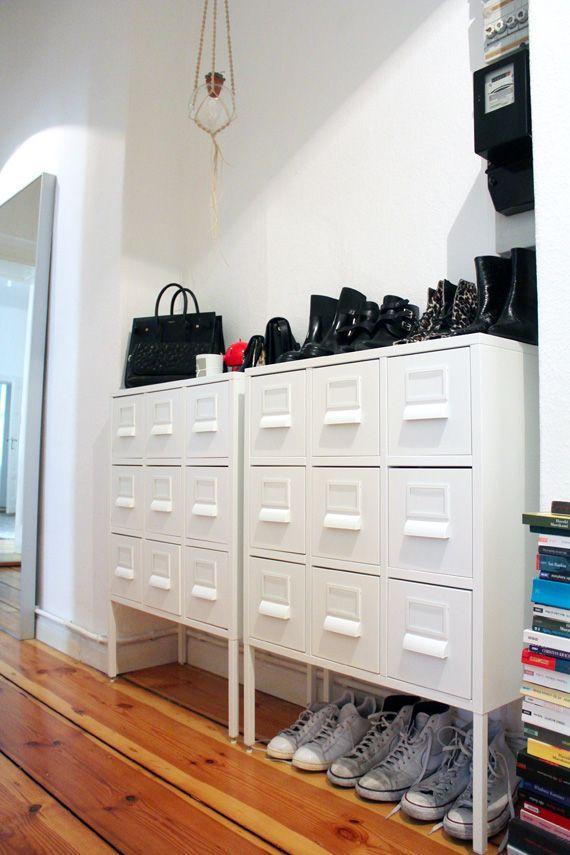 wohin mit all den schuhen lesmads zeigt die l sung interior inspiration pinterest. Black Bedroom Furniture Sets. Home Design Ideas