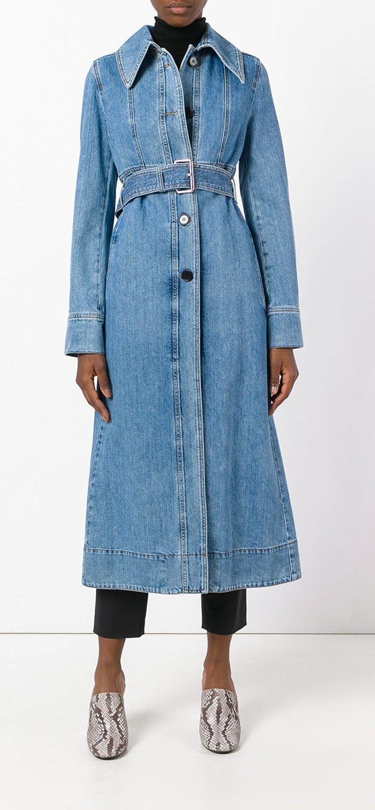 MARNI belted denim coat, explore new season Marni on Farfetch now.
