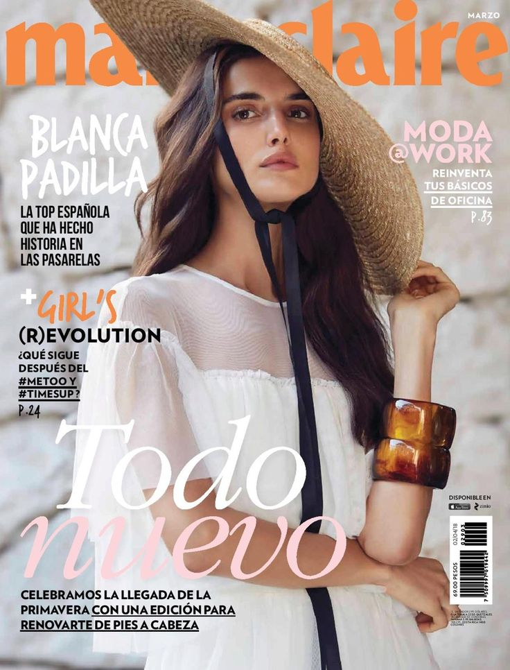 Blanca Padilla on Marie Claire Mexico March 2018 Cover