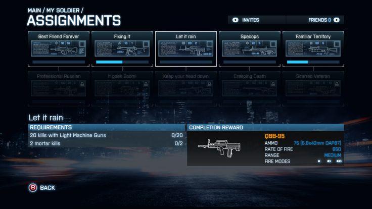 Battlefield Assignment UI