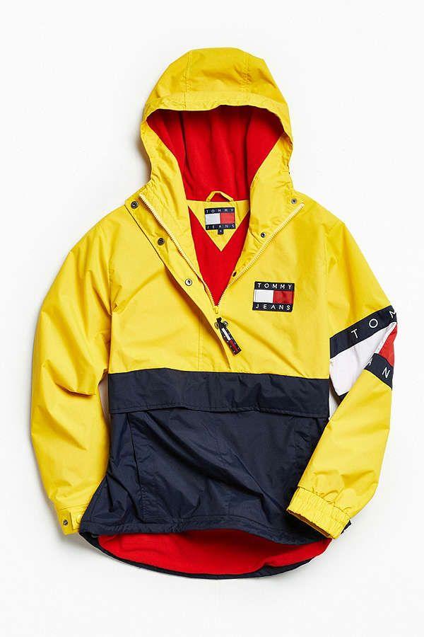 5b78a8165 Slide View: 1: Tommy Hilfiger Colorblocked Pullover Windbreaker Jacket
