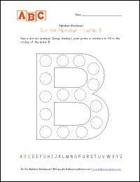 Dot Alphabet Letter Pages- colour or us a Bingo Dauber