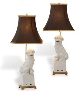 White Foo Dog Lampsu2014yes Please (Matchbook Nov Issue)