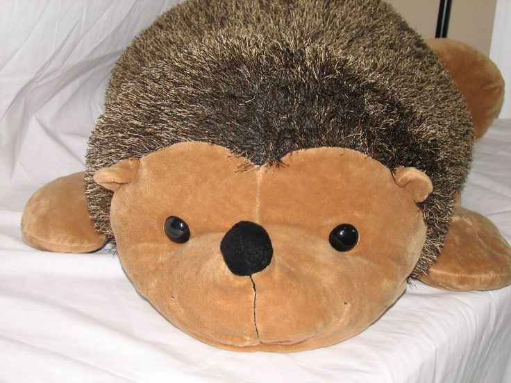huge hedgehog stuffed animal plush toy beanbag pillow 42 long free shipping fantastic gifts. Black Bedroom Furniture Sets. Home Design Ideas