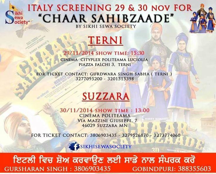 #ChaarSahibzaade Releasing soon in Italy #DharamSevaRecords #DharamSevaFilms #XclusivePR