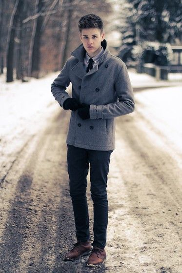 Topman Peacoat, Ralph Lauren Tie, Zara Pants, River Island Shoes