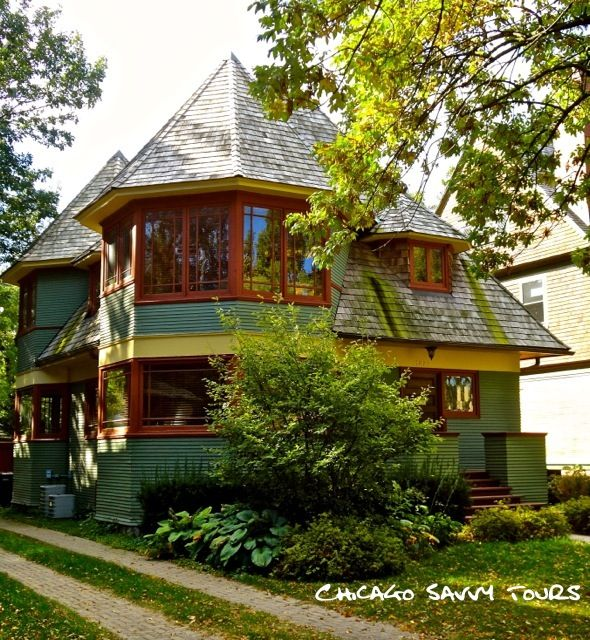 Frank Lloyd Wright Oak Park Tours: Thomas Gale House - All Wright Tours: Oak Park Tours, Chicago Tours, and North Shore Tours Featuring the Architecture of Frank Lloyd Wright