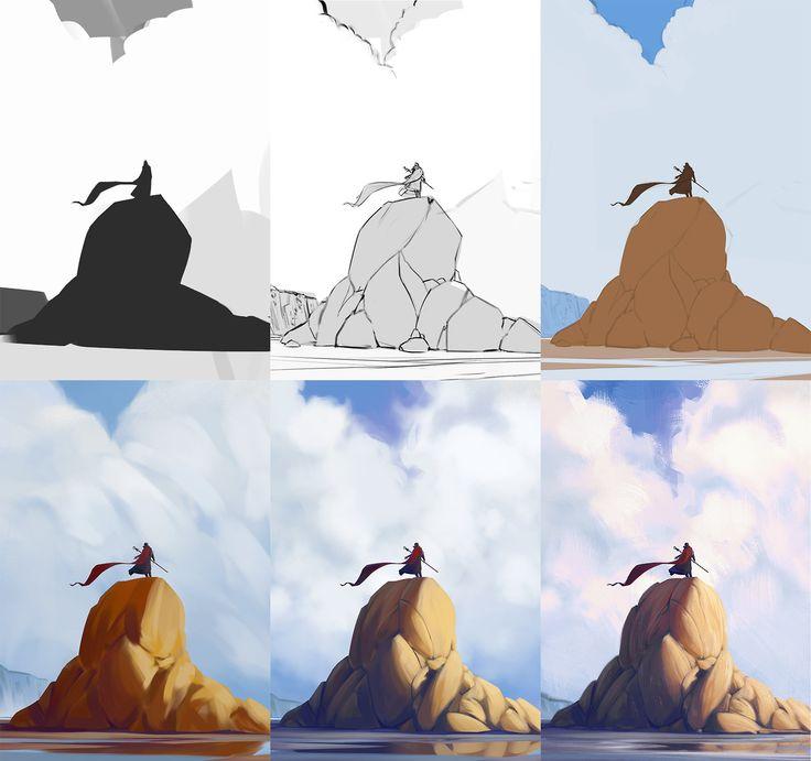 Photo Manipulation Techniques Character Design Process : Best environment concept art images on pinterest
