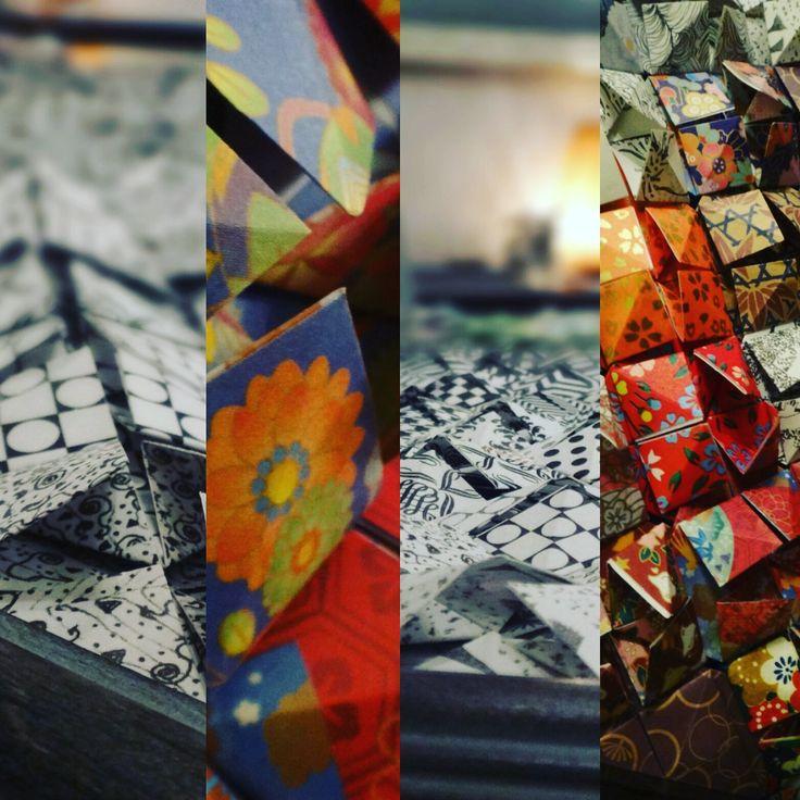 Custom Framed Origami Wall Art