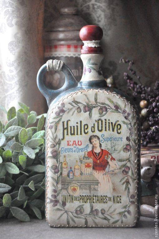Купить Бутылка для оливкового масла - Керамика, бутылка, подарок женщине, кухня, подарок на 8 марта