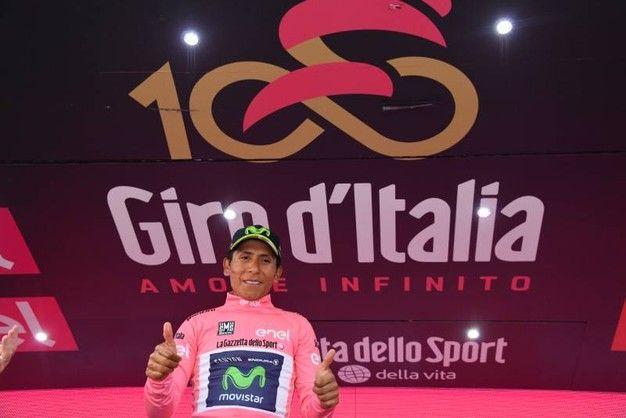 Nairo Quintana ancora maglia rosa