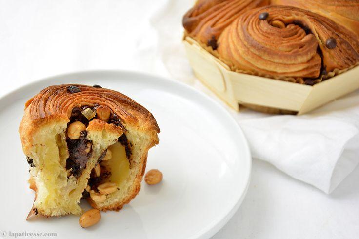 Бриошь feuilletée Au Chocolat с арахисом и засахаренных рецепт имбирного