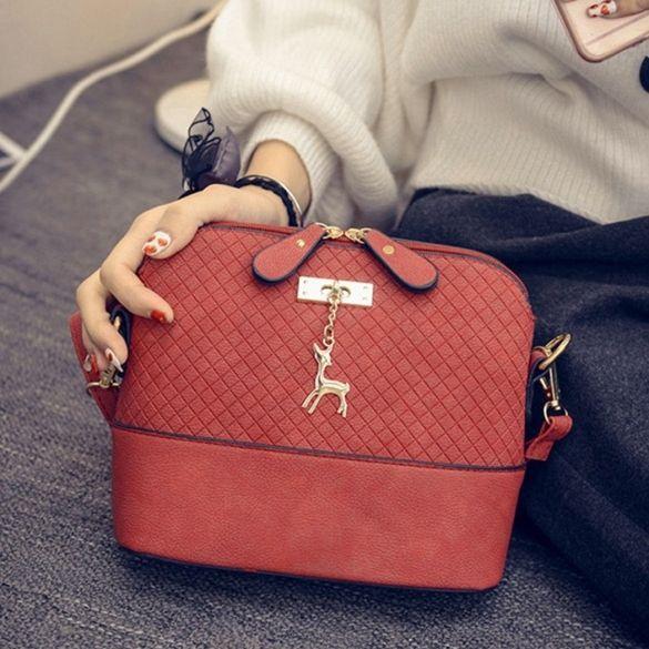Mulheres Moda Embossed Leather Messenger Bolsa Satchel Tote Handbag Bolsa de Ombro