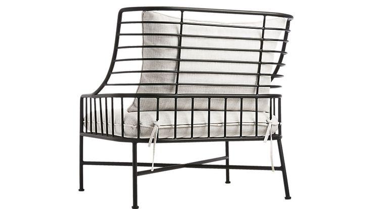 Бретон черный металлический стул