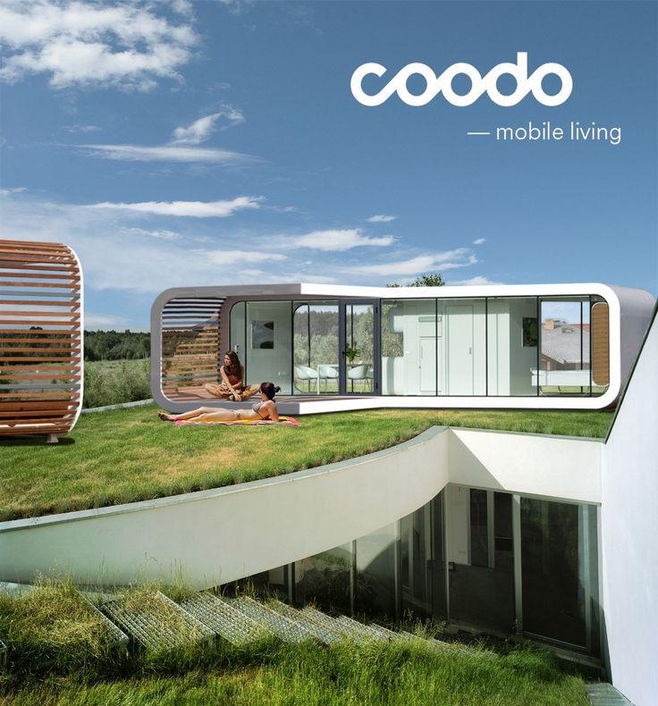 Coodo mobile living coodo renderings pinterest house for Mobile living