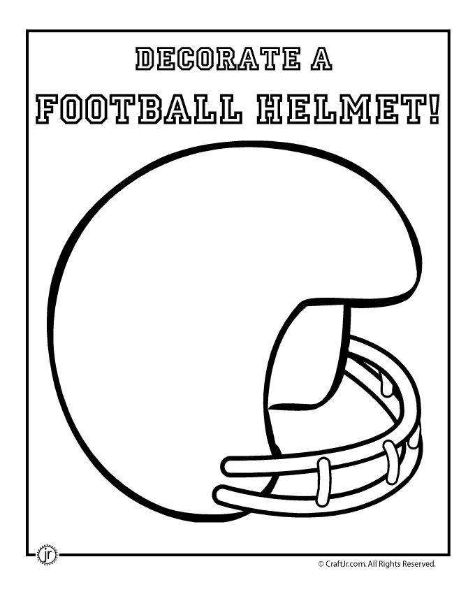 Football helmet printable cute for kids to keep them quiet during big games!