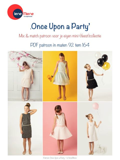 IeneMiene: Once upon a party - mix & match jurken - maat 92-164 - pdf - 14.50euro