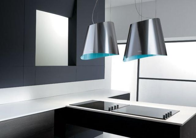 Auffällige design dunstabzugshauben von elica für die moderne