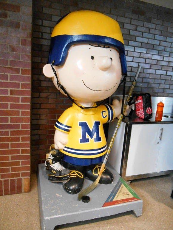 University of Michigan hockey player at Yost Ice Arena