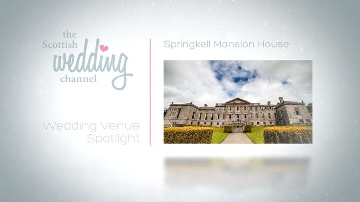 Springkell, an Exclusive Use Scottish Wedding Venue.  www.springkell.co.uk