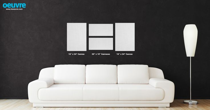 canvas photo wall layout using two 16 x 24 and two 10 x 20 canvases visit our website http. Black Bedroom Furniture Sets. Home Design Ideas