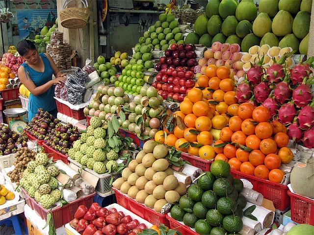 Fruit Market / Vietnam, Saigon by flydime, via Flickr