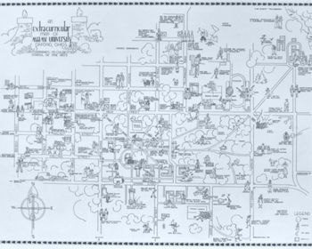 1936 Oxford, OH Map Picture at Miami University Photo Store