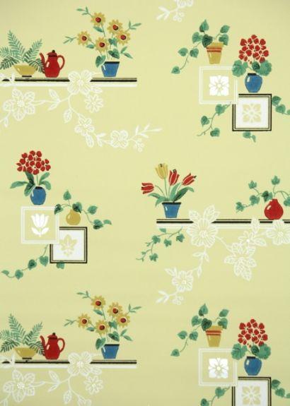 Vintage Kitchen Wallpaper | For the Home | Pinterest
