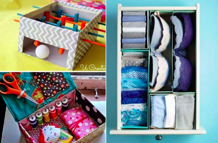 17 idées pour recycler les boîtes à chaussures