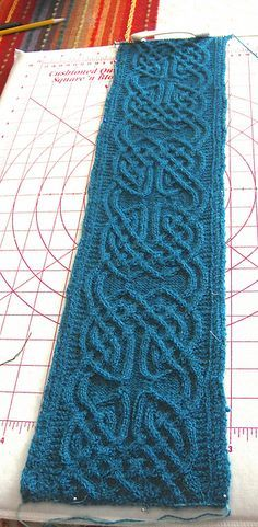 Continuous celtic cables FREE - Ravelry: Project Gallery for Nennir pattern by Lucy Hague