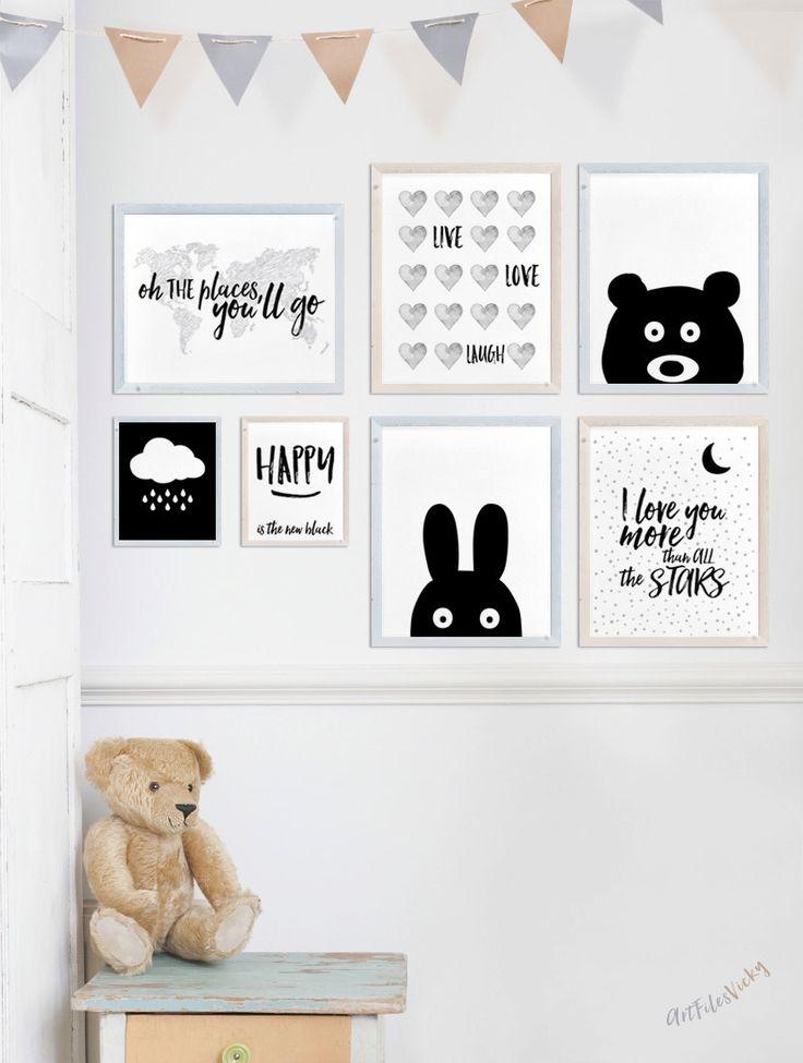 Kinderkamer kunst wordt afgedrukt Multi Print korting Set