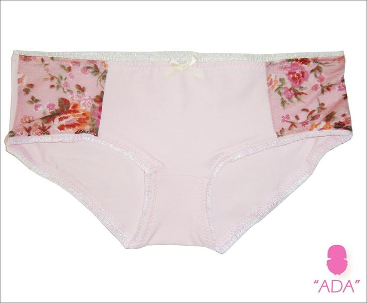 ADA 010 -  Culotte en lycra de algodón con detalle estampado a los laterales