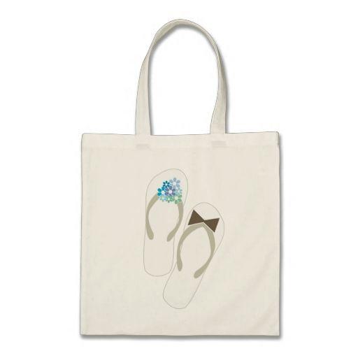 fatfatin Beach Aqua Flip Flops Wedding Gift Bag Wedding Favor Ideas ...