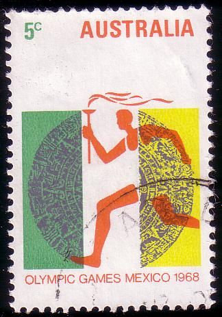 Stamp from Australia | Mexico City 1968, Olympic Games