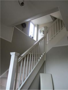 An inspirational image from Farrow and Ball  Like the mirror at the top of the staircase