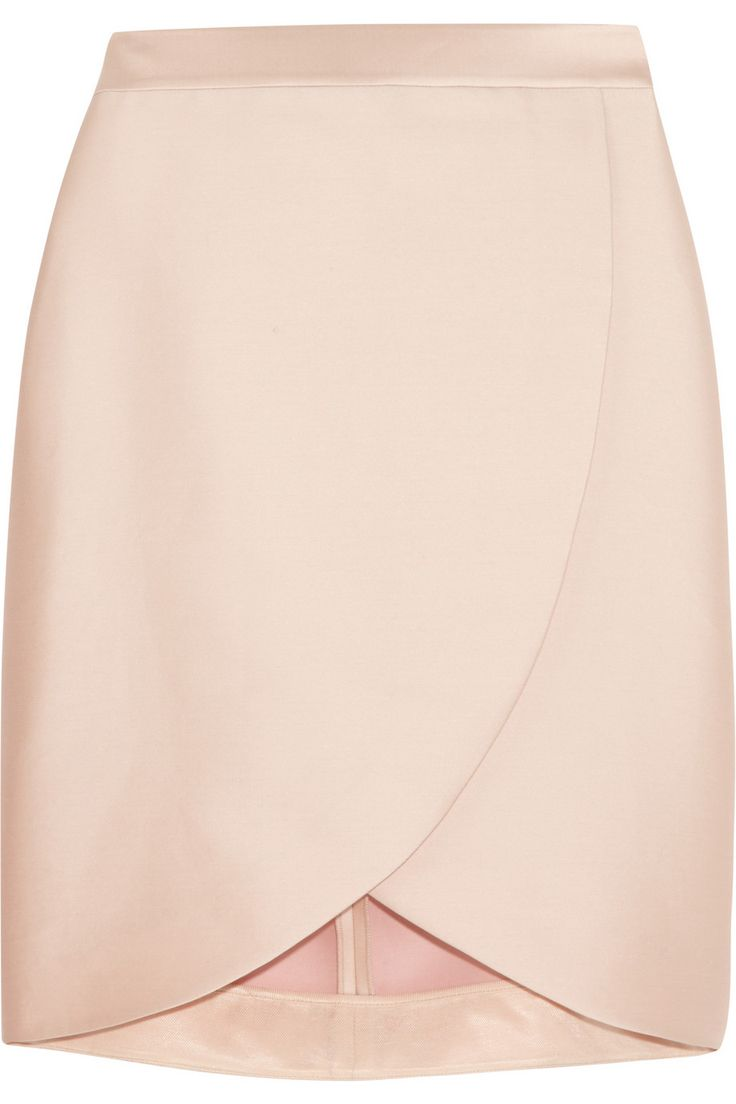 Stella McCartney | Kravitz satin-twill wrap-effect skirt | NET-A-PORTER.COM